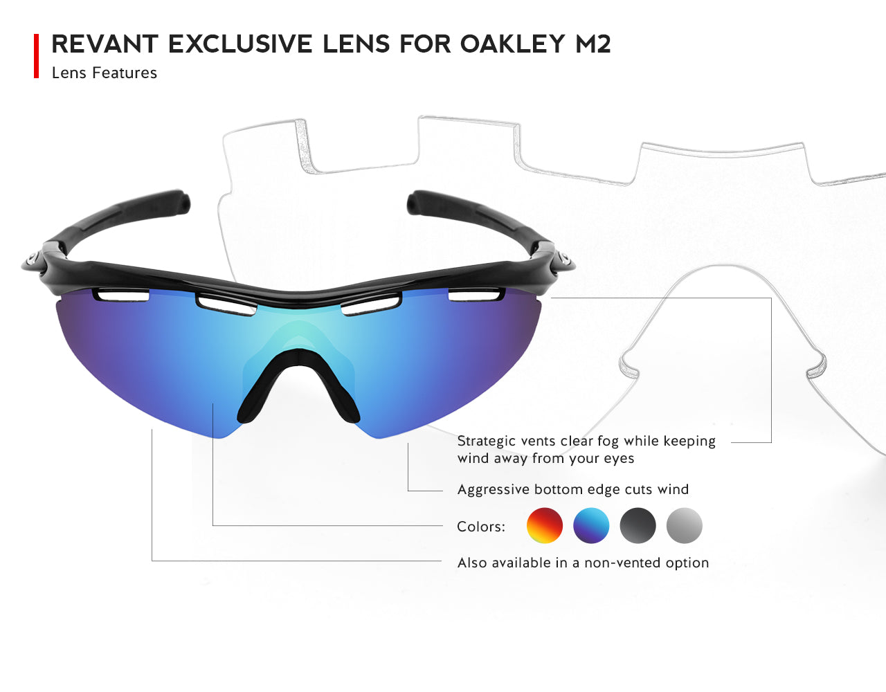 revant exclusive lens for oakley m2