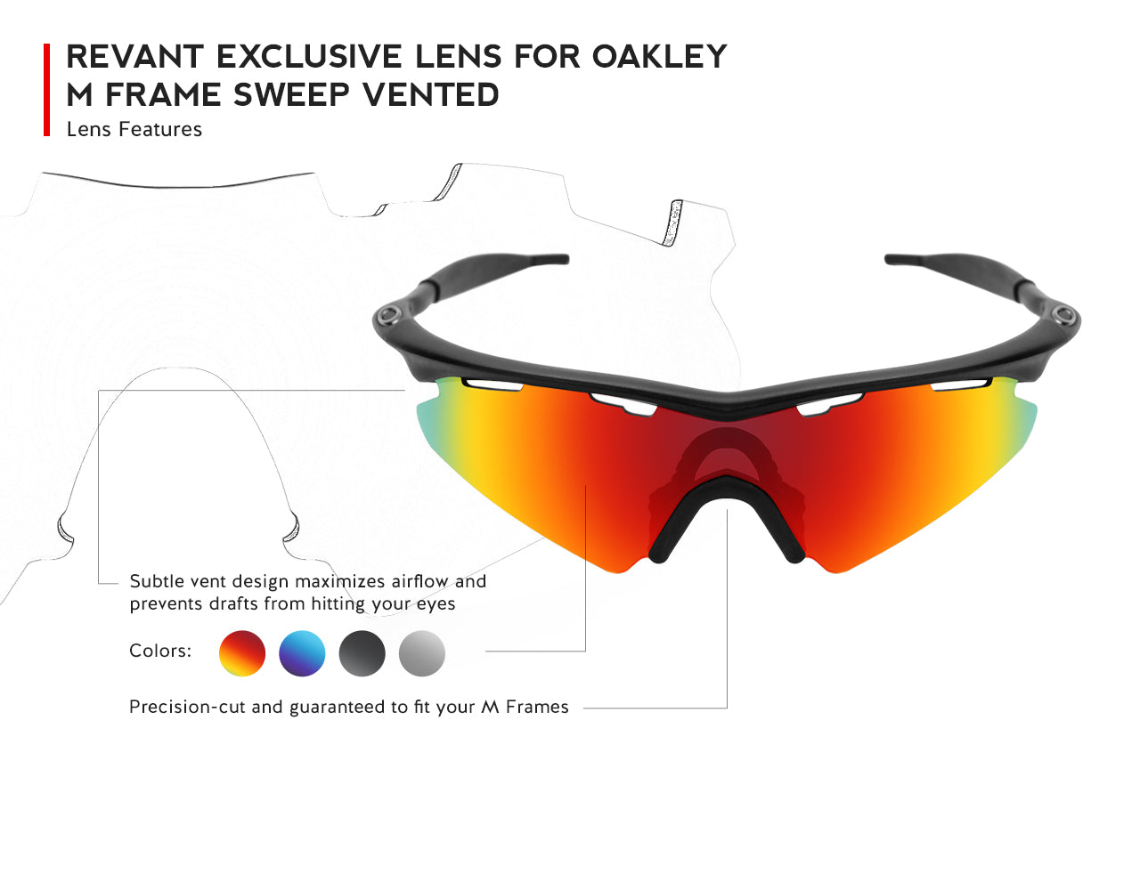 revant exclusive lens for oakley m frame sweep vented