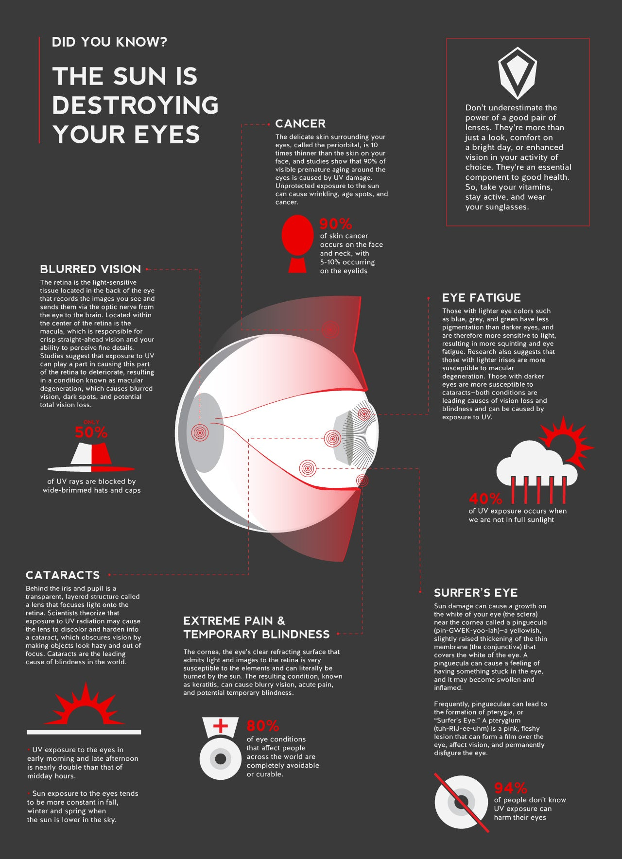 Did you know? The sun is destroying your eyes infographic