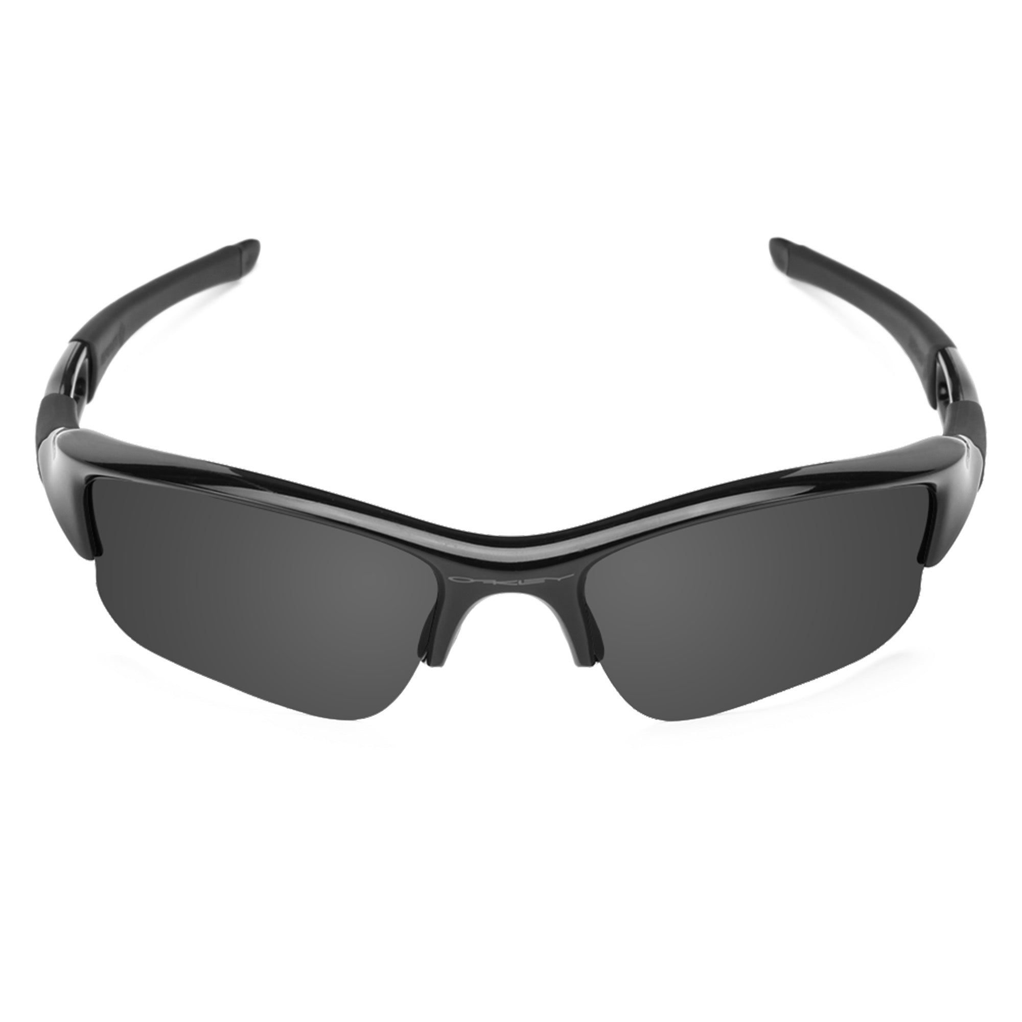 Revant black rubber kit installed on Oakley Flak Jacket sunglasses