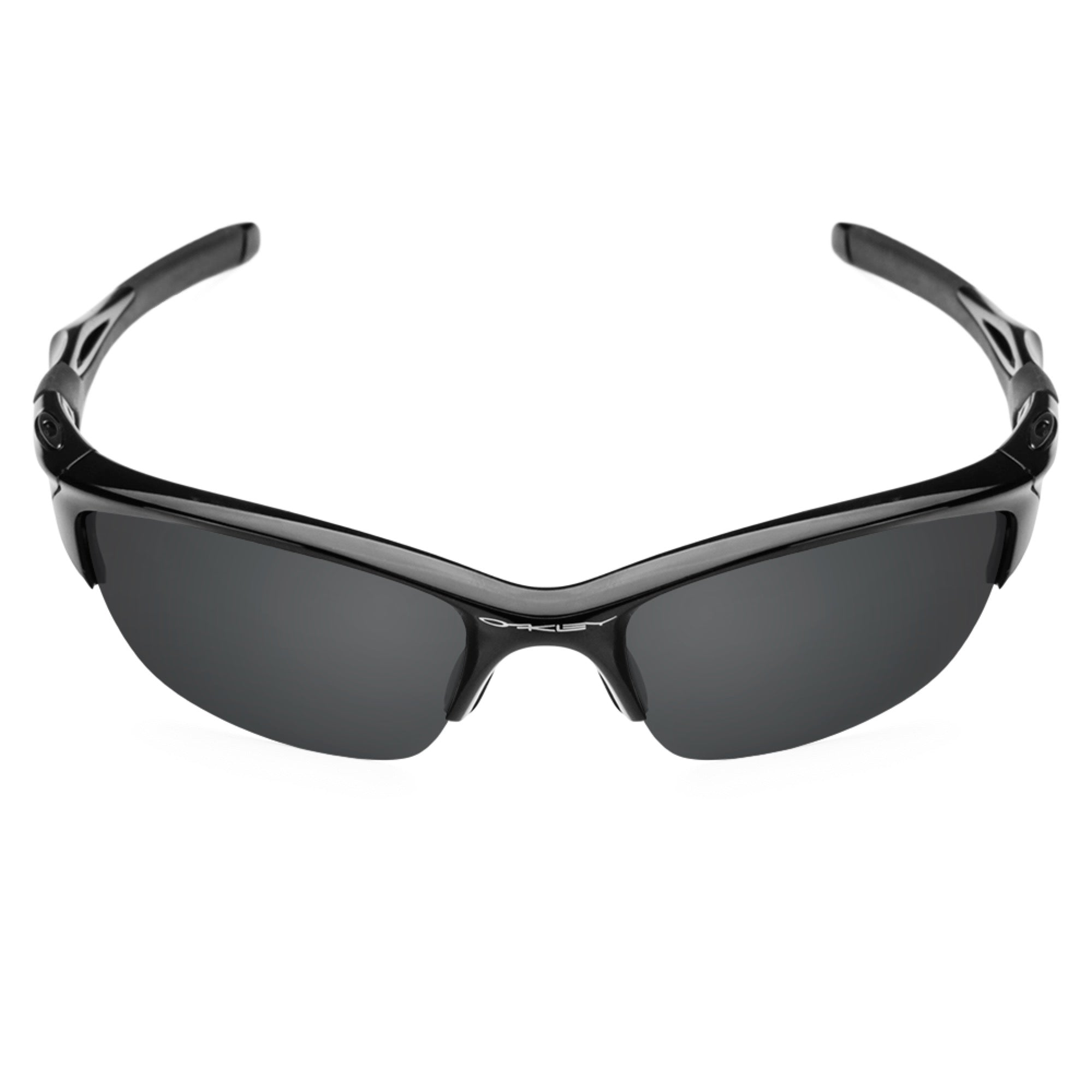 Revant black rubber kit installed on Oakley Half Jacket 2.0 sunglasses