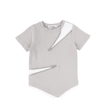 Load image into Gallery viewer, ASSYMETRICAL ZIPPER TEE