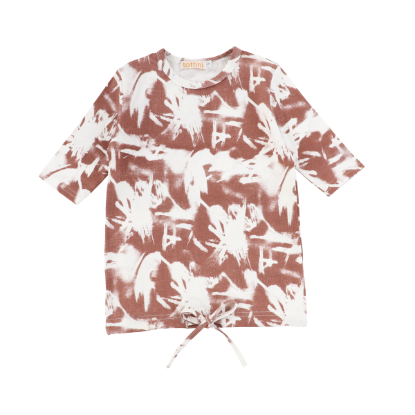 LS ABSTRACT DRAWSTRING TEE