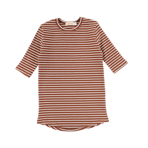 LS RIBBED STRIPE TEE