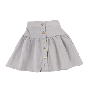 COTTON BUTTON DOWN SKIRT