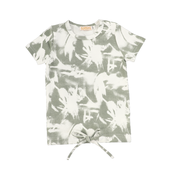 SS ABSTRACT DRAWSTRING TEE