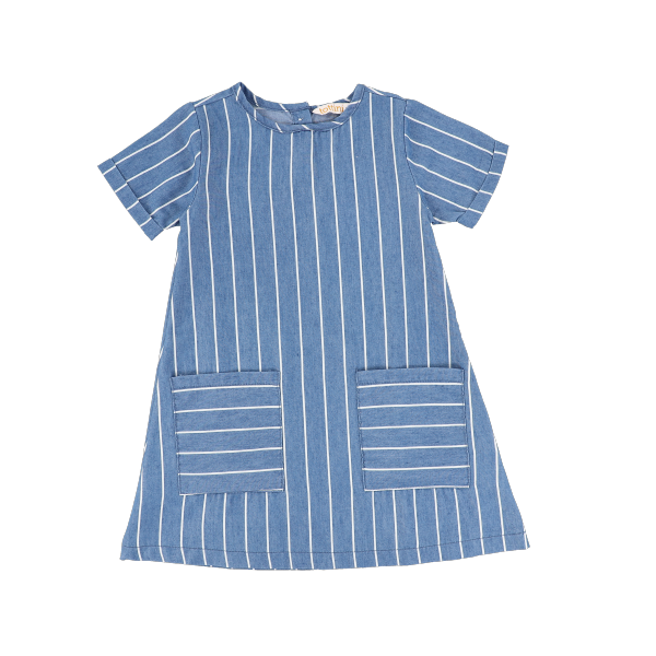 SS STRIPED DENIM DRESS
