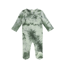Load image into Gallery viewer, TIE DYE RIBBED FOOTIE