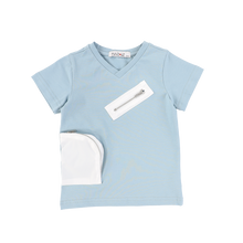 Load image into Gallery viewer, VNECK ZIPPER POCKET TEE