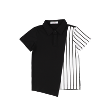 Load image into Gallery viewer, ASSYMETRICAL STRIPE POLO