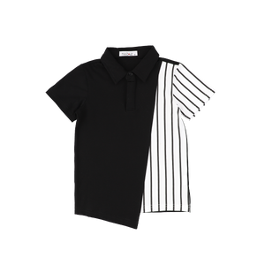 ASSYMETRICAL STRIPE POLO