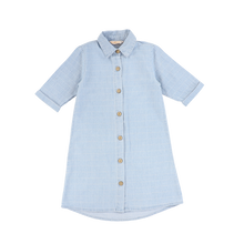Load image into Gallery viewer, LS DENIM SQUARE SHIRTDRESS
