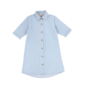 LS DENIM SQUARE SHIRTDRESS