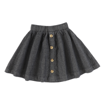 Load image into Gallery viewer, DENIM BUTTON DOWN SKIRT