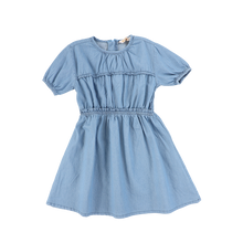 Load image into Gallery viewer, SS DENIM GATHERED DRESS