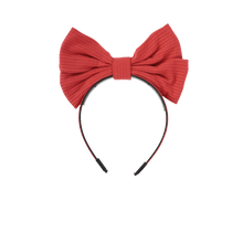 Load image into Gallery viewer, RIBBED LARGE BOW HEADBAND