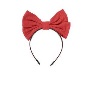 RIBBED LARGE BOW HEADBAND