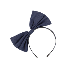 DENIM SIDE BOW HEADBAND