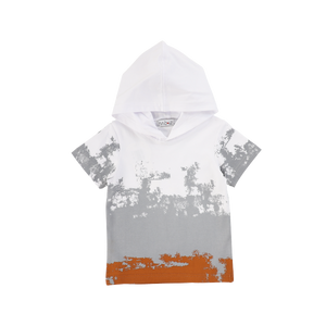 HOODED OMBRE TEE