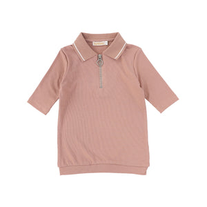 LS RIBBED POLO TEE