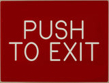 Push to Exit Sign - SP SIGN CO