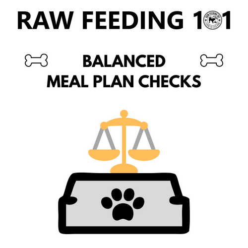 Raw Feeding Meal Checks