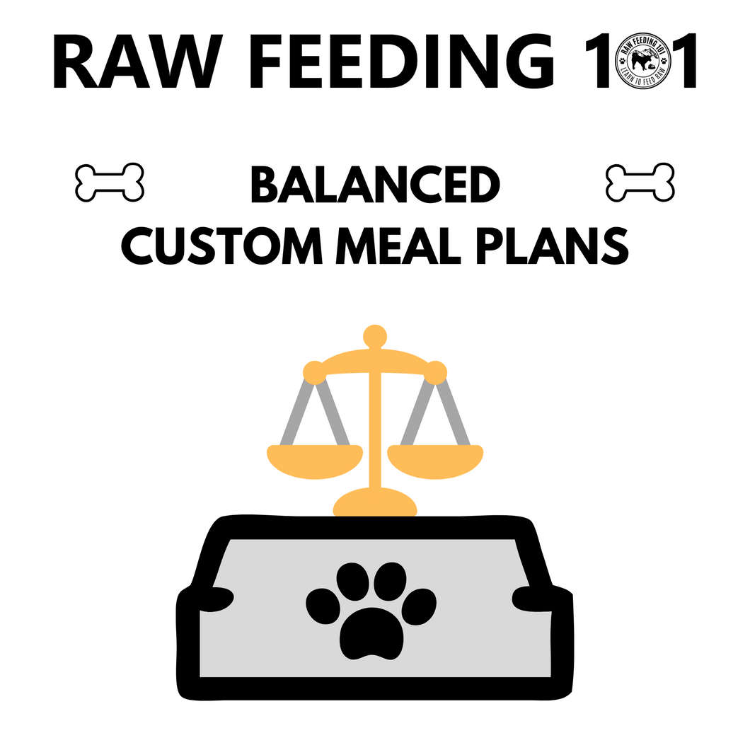 NRC Raw Feeding Meal Plans