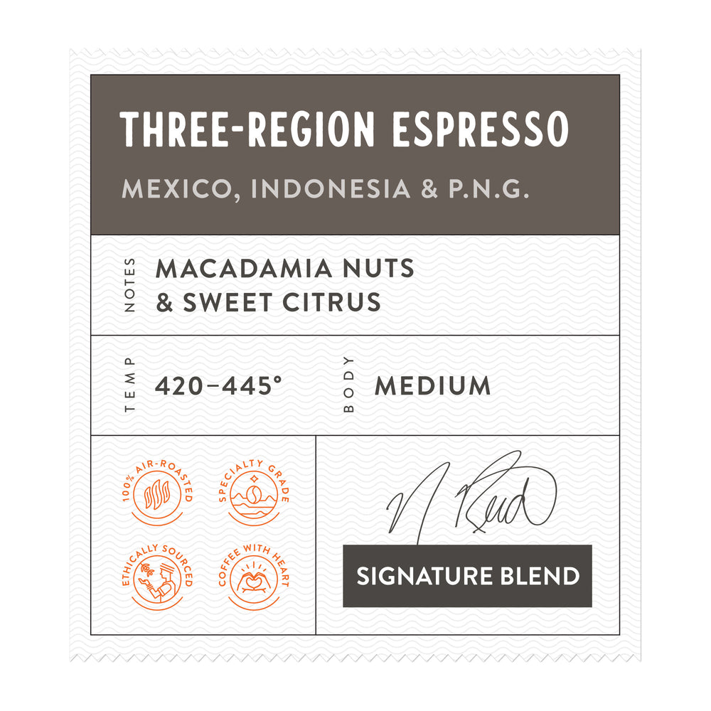 Three Region Espresso
