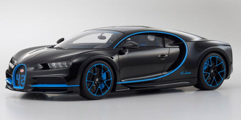 Kyosho Original 1/12 Scale Bugatti Chiron 42 Edition (Black/Blue) [No.KSR08664BK]