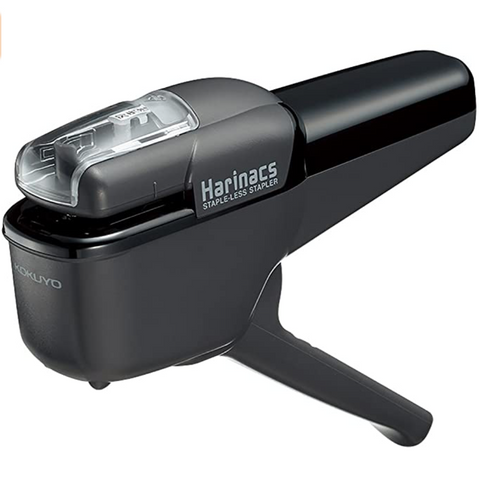 Kokuyo Harinacs Staple-less Press Stapler - Black