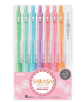 Zebra Sarasa Clip 0.5mm Ballpoint Pen, 8 Color Set (JJ15-8C-MK)