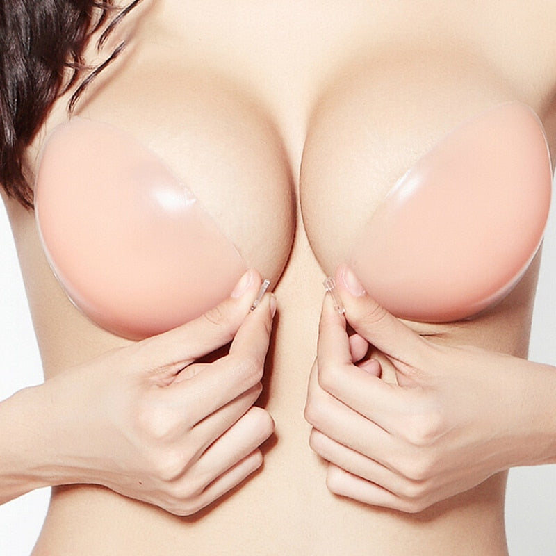 Adhesive Bra Strapless Sticky Invisible Push up Silicone Bra