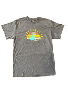 RiverTime Sunset on the River Gray T-Shirt