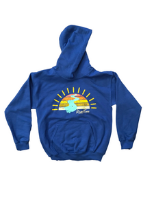 RiverTime Sunset on the River Royal Blue Youth Hoodie