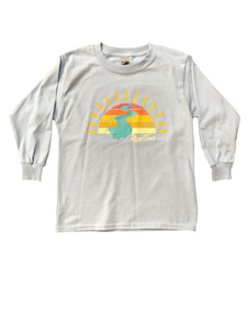 RiverTime Sunset on the River Light Blue Youth Long Sleeve T-Shirt