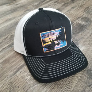 RiverTime Tuber Black with White Mesh Richardson Trucker Hat