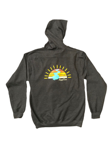 RiverTime Sunset on the River Gray Zip-Up