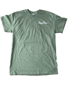 RiverTime Military Green Distressed Duck T-Shirt