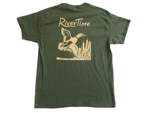 RiverTime Military Green Duck T-Shirt
