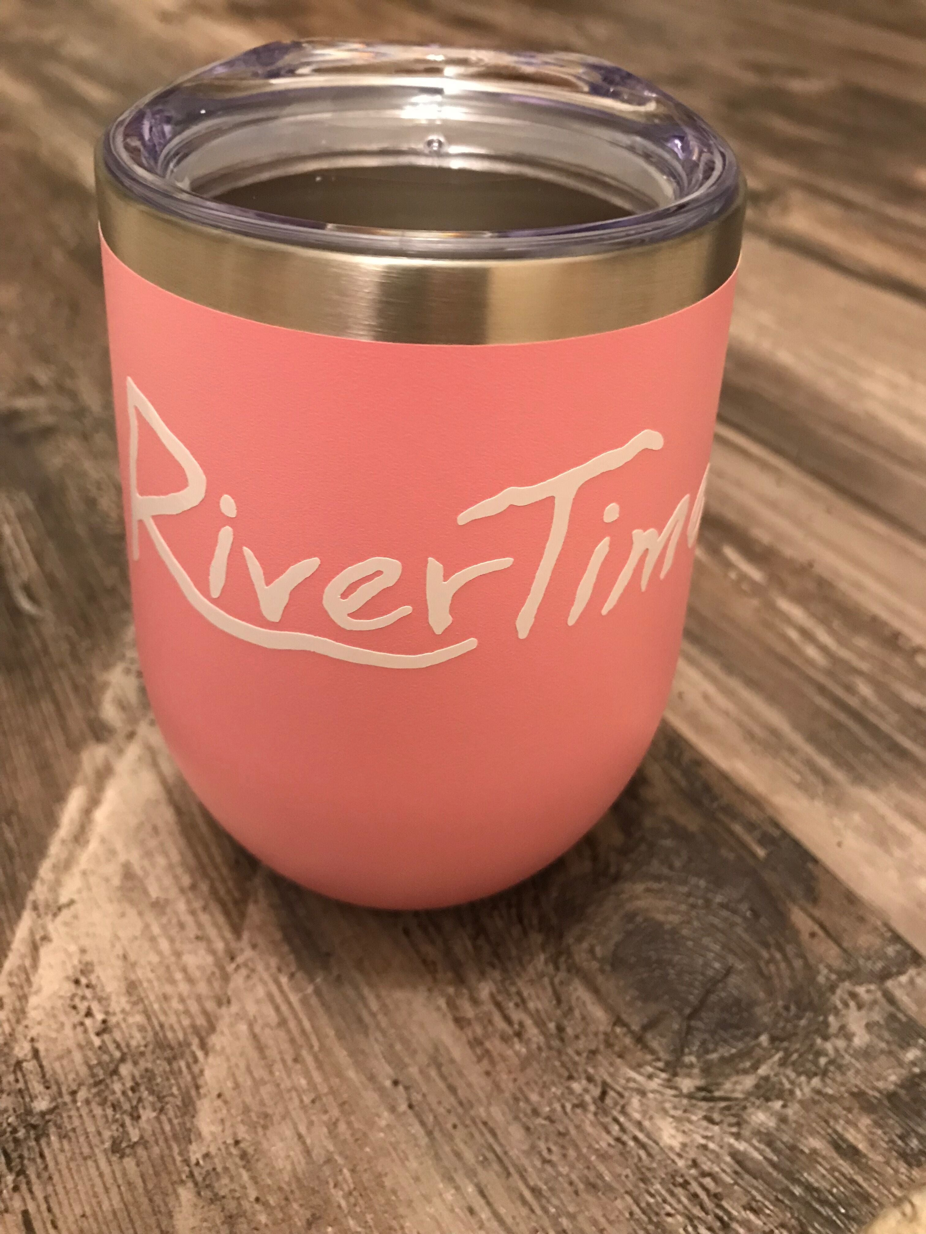 RiverTime Pink 12 oz Wine Tumbler