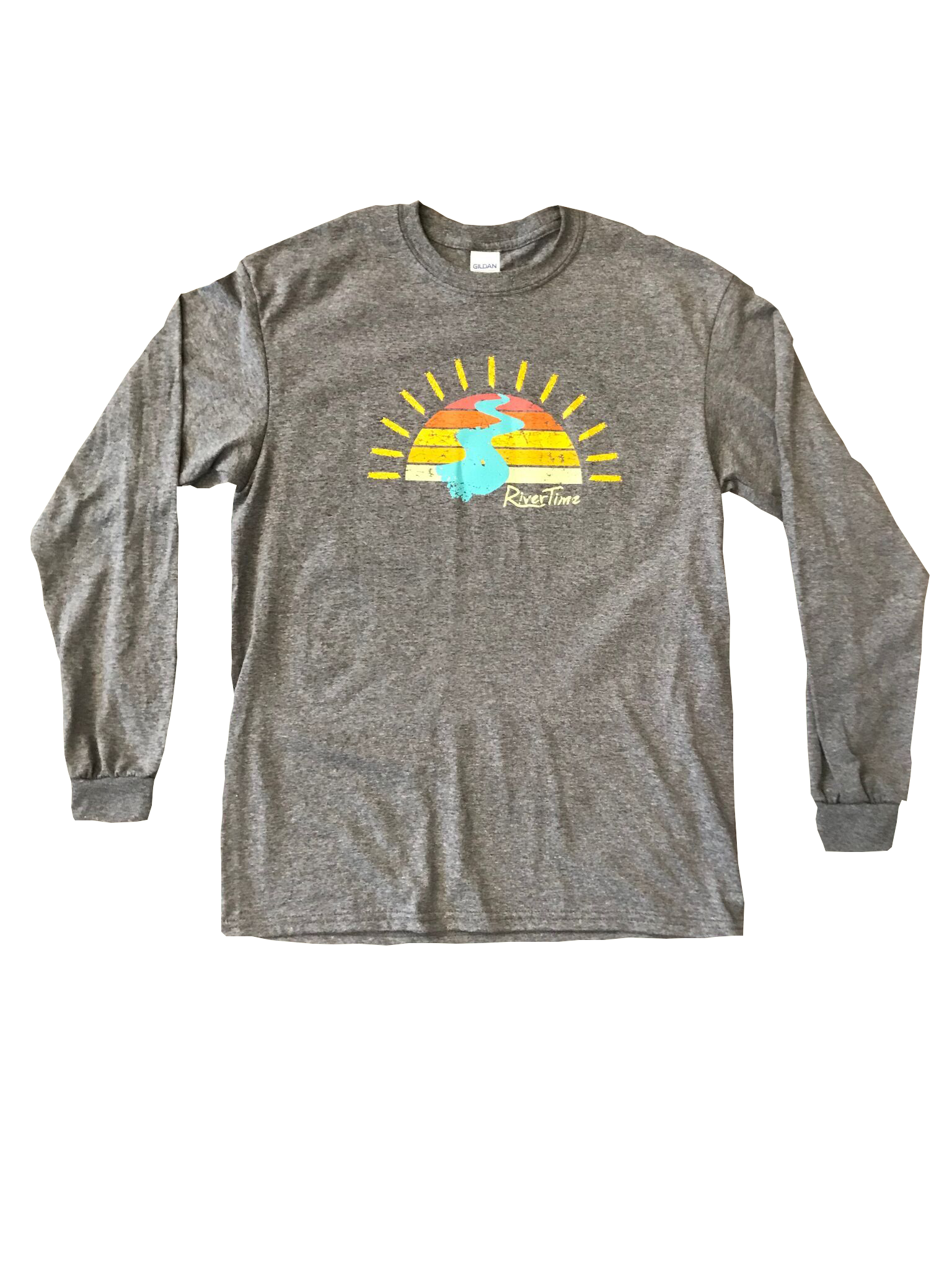 RiverTime Sunset on the River Long Sleeve T-Shirt