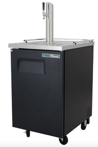 "True Draft Beer System True TDD-1-HC 24"" Draft Beer System w/ (1) Keg Capacity - (1) Column, Black, 115v"