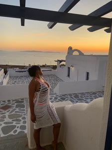 Santorini white cover up