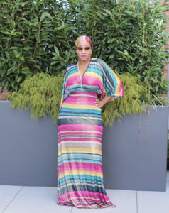 Come Thru Kimono Maxi Dress S-3X ALL SMALLS ON SALE!