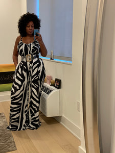 National Geometric Print Jumpsuit