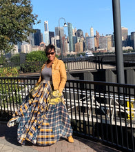 Load image into Gallery viewer, Damsel In Distress Plaid Maxi Skirt Remix