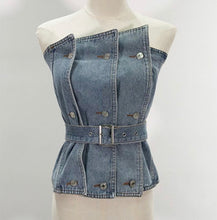 Load image into Gallery viewer, Denim Is The New Black Belted Top