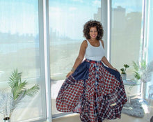 Load image into Gallery viewer, Damsel In Distress Plaid Maxi Skirt
