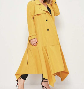 Asymmetry In Motion Coat Dress