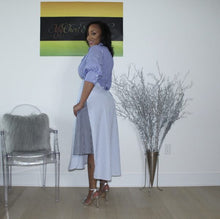 Load image into Gallery viewer, Stripe A Pose Color block shirtdress